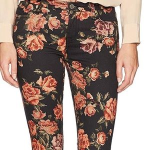 Floral Ankle Skinny Jeans by 7 for all Mankind